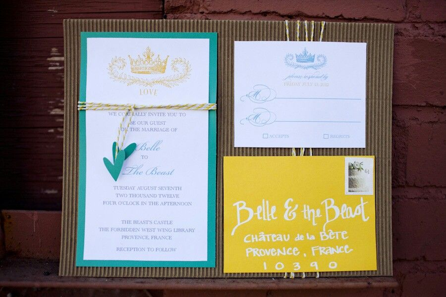 Wording For Beauty The Beast Inspired Wedfing
