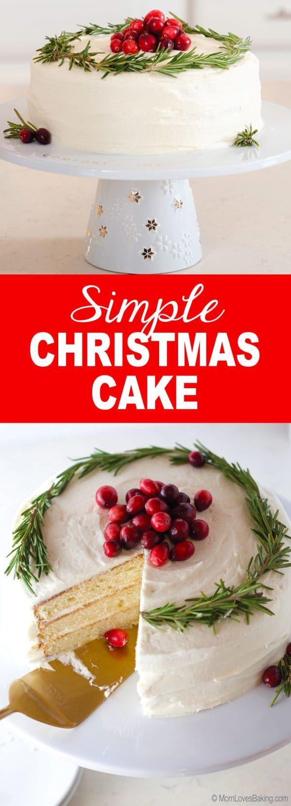 Simple Christmas Cake Recipe Christmas cakes easy