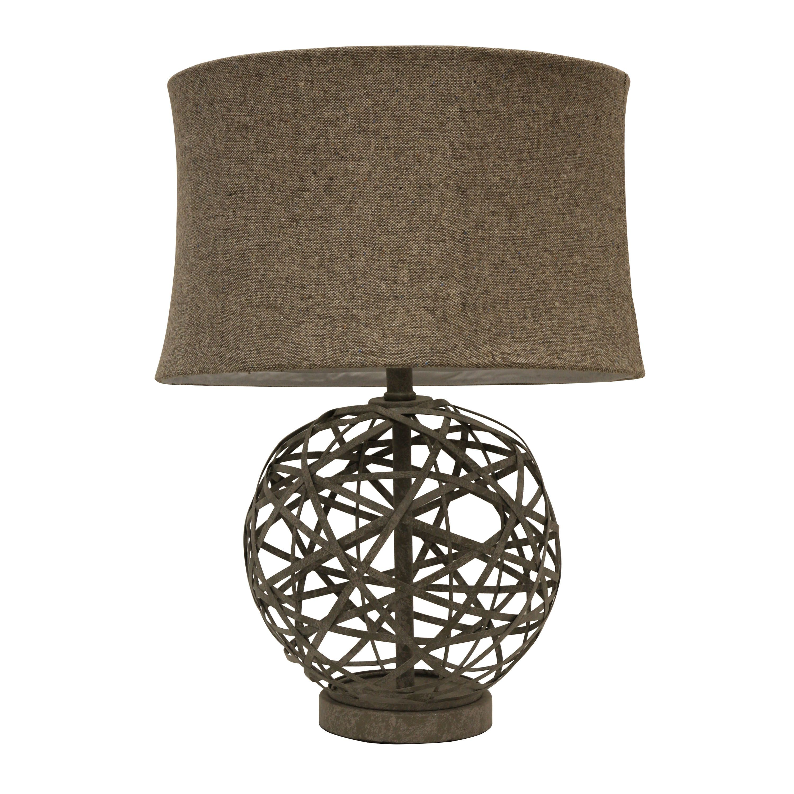 J Hunt Home Strapped Steel Ball 22 Table Lamp With Drum Shade Ball Lamps Lamp Decor Therapy
