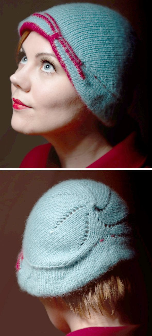 Free Knitting Pattern For Lee Cloche This Reversible Cloche