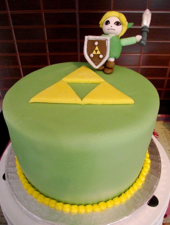 Zelda Birthday Cake Decorations Triforce Master Sword Idea Pinterest