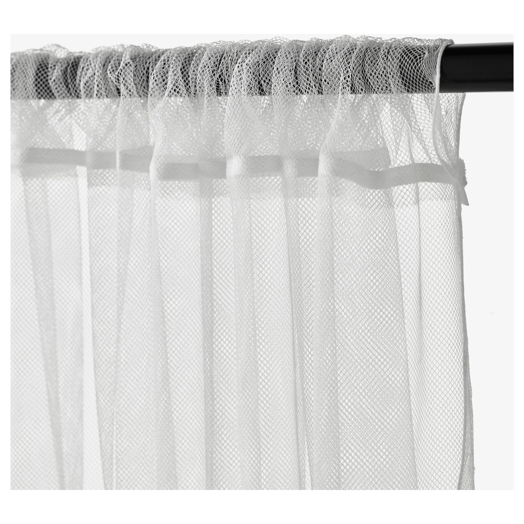 ikea lill lace curtains 1 pair the lace curtains let the daylight through but provide privacy so they are perfect to use in a layered window solution