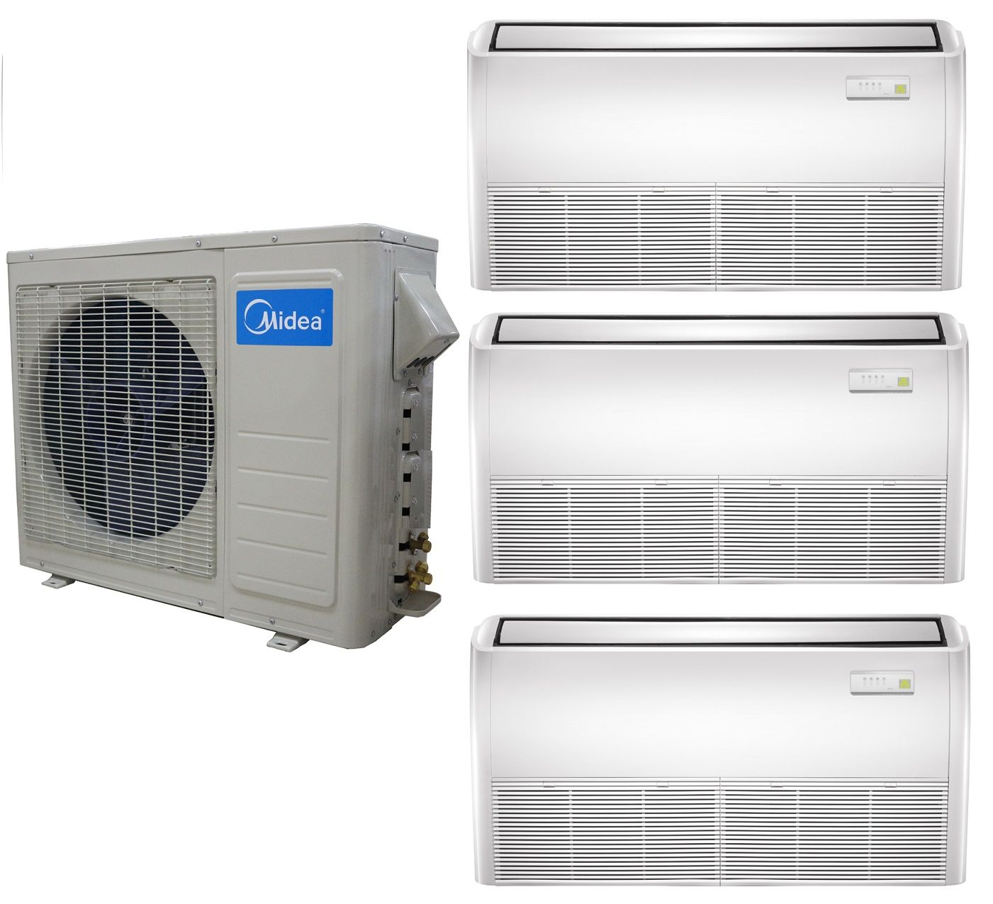 Midea 21 Seer 3 Zone Universal Mount Mini Split Heat Pump Ac Ulti Zone Heat Pump Systems Provide Outdoor Units For Two Thre Heat Pump System Heat Pump Splits