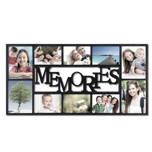 Adeco Pf0459 10 Opening Plastic Black Wall Hanging Collage Picture Photo Frame Memories M With Images Hanging Picture Frames Family Wall Collage Collage Picture Frames