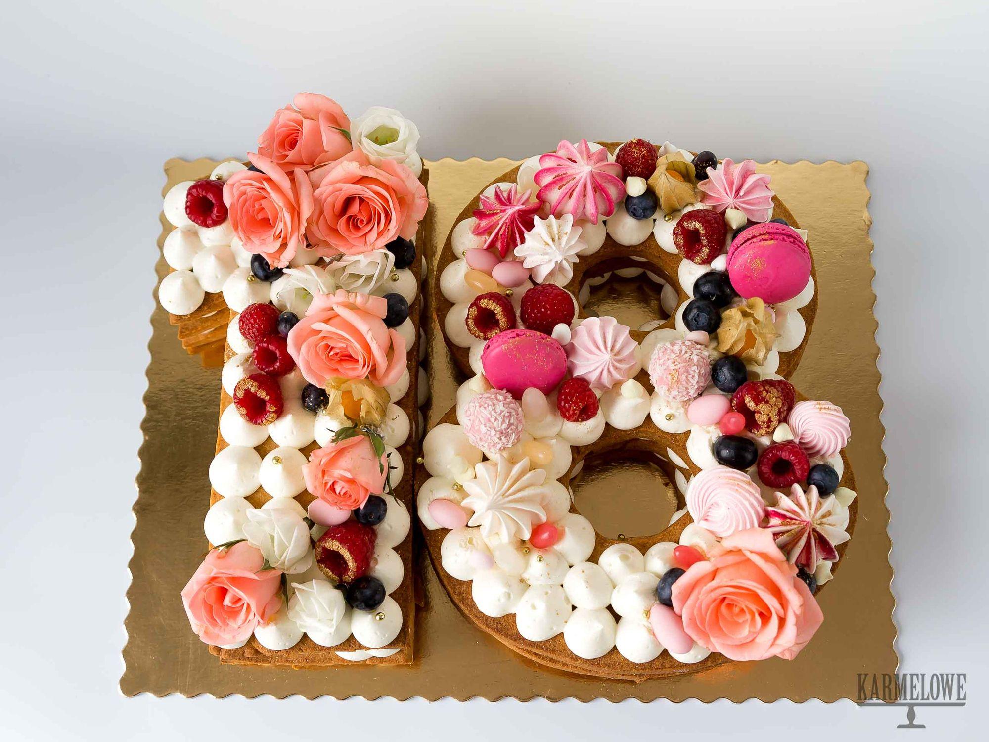 18 Nth Birthday Number Cake Karmelowe Pl Number Cakes Birthday Numbers Birthday