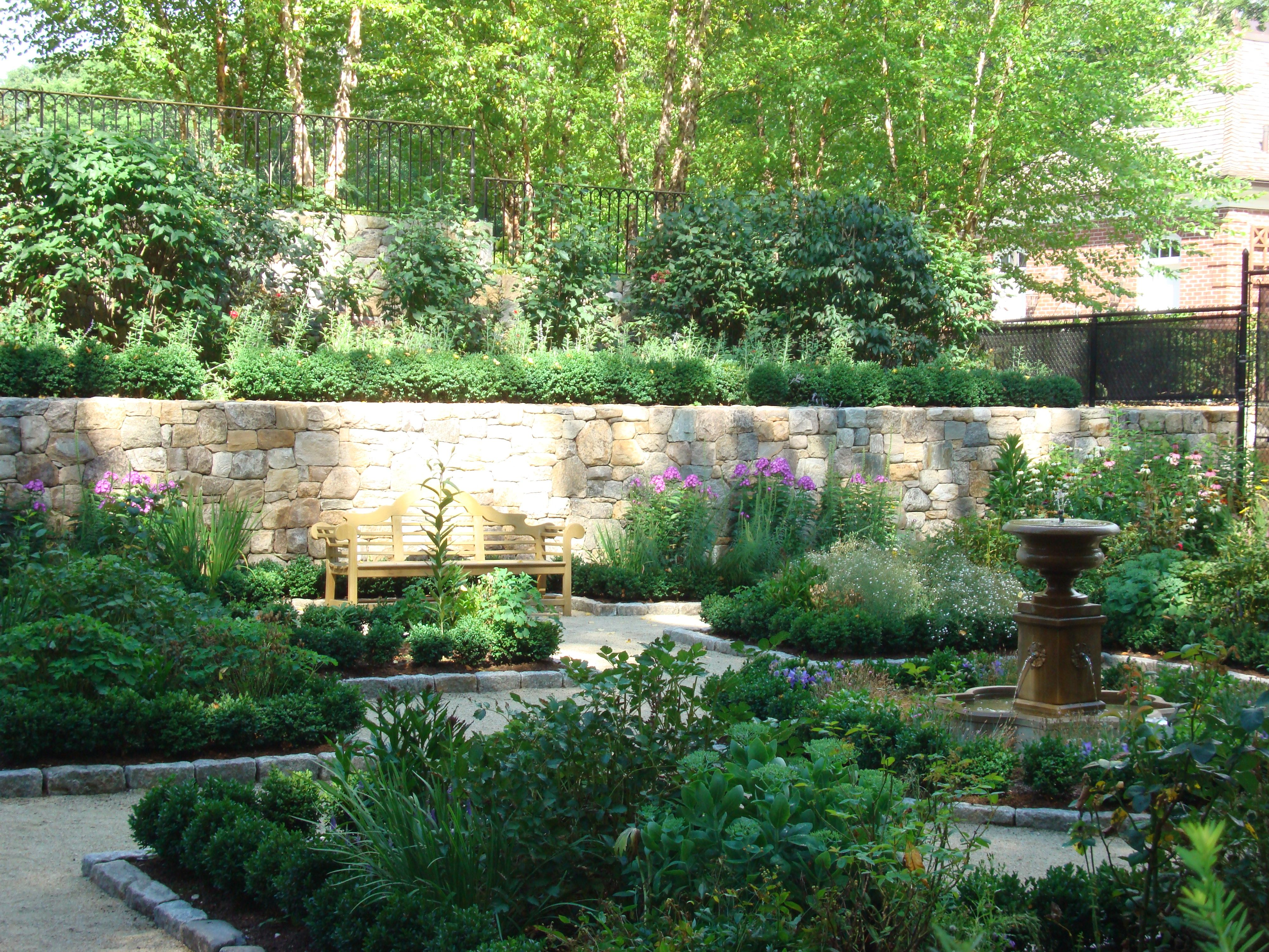 Garden Fountain, Stone Wall, Residential Landscape Design, Commercial  Landscape Design: Http://wesleystout.com/