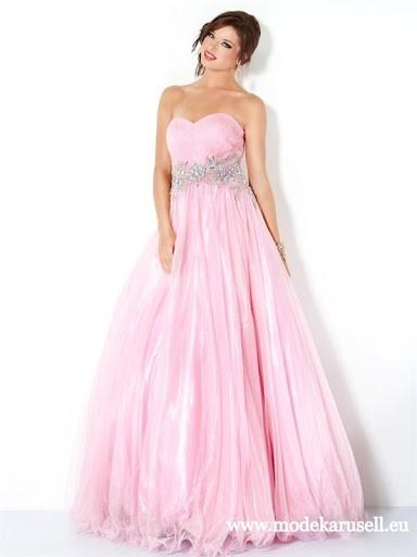 Prinzessin Abendkleid Lang in Rose | Pinke ...