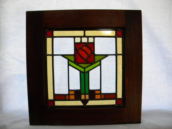 Smallest Red Rose Stained Glass Window