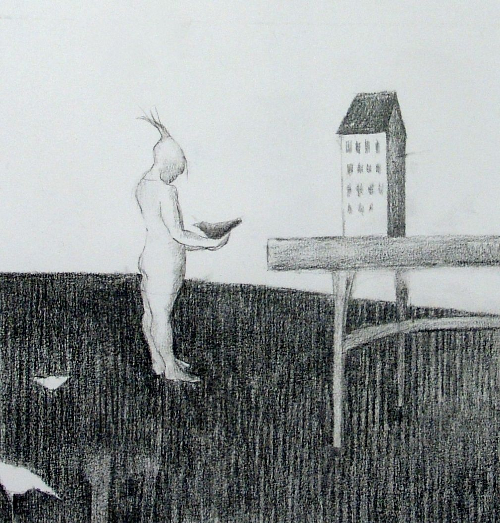 Drawing 20 x 20 cm Liv Sørvaag