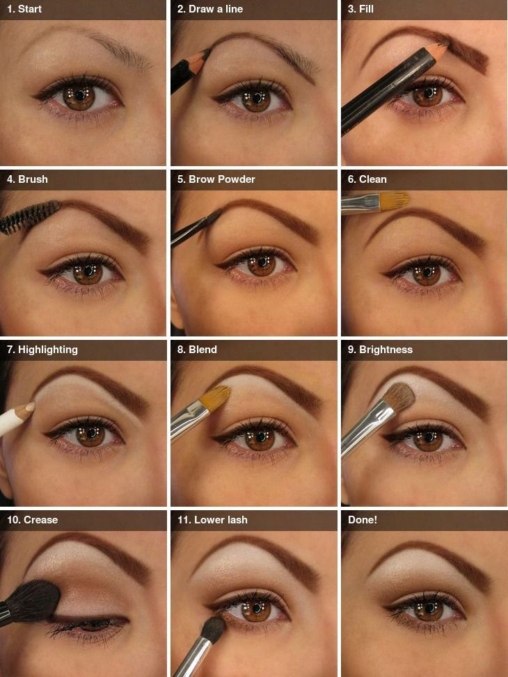 Beautiful natural eye make up tutorial for brown eyes