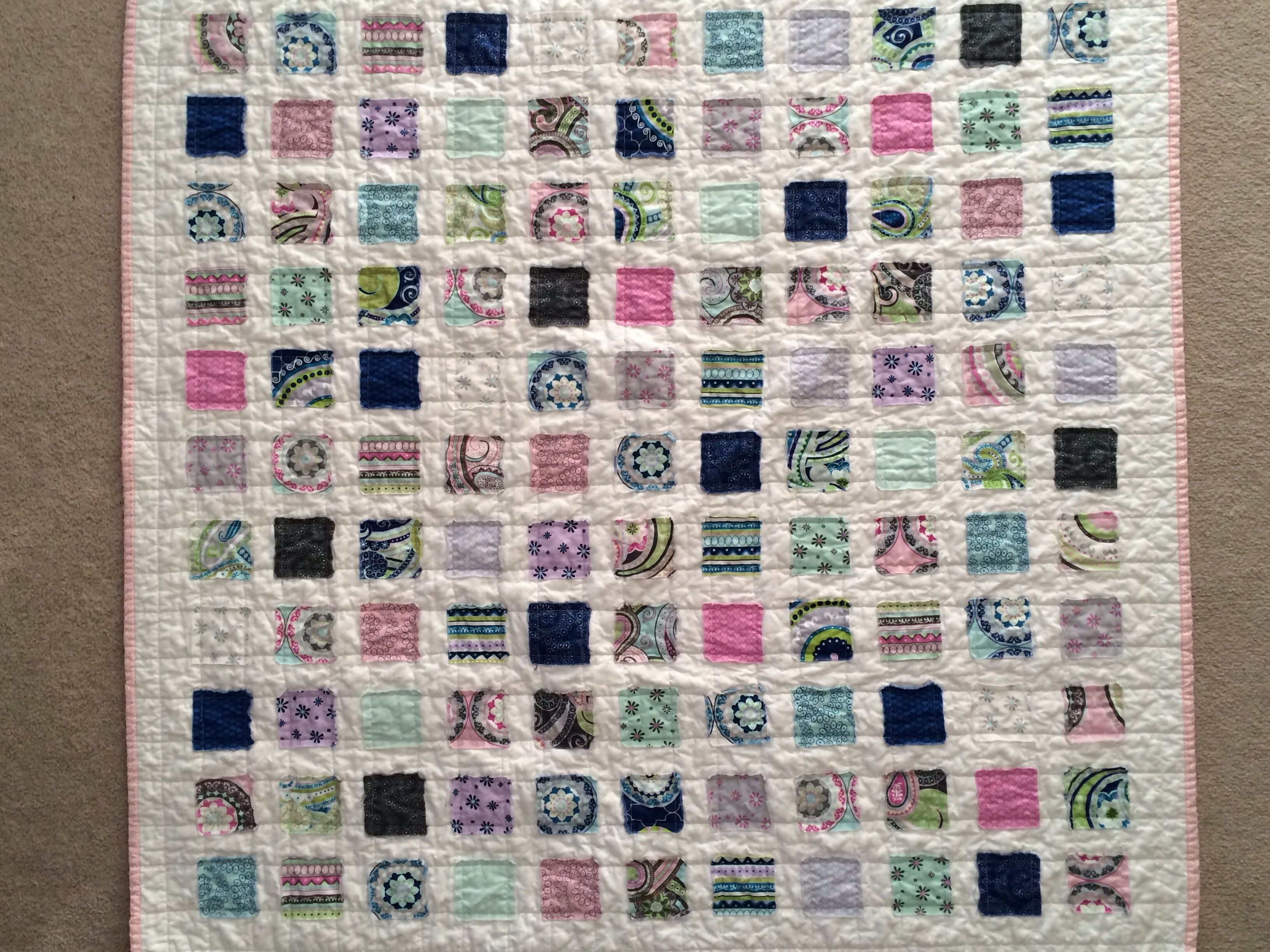 Raw edge square quilt tutorial