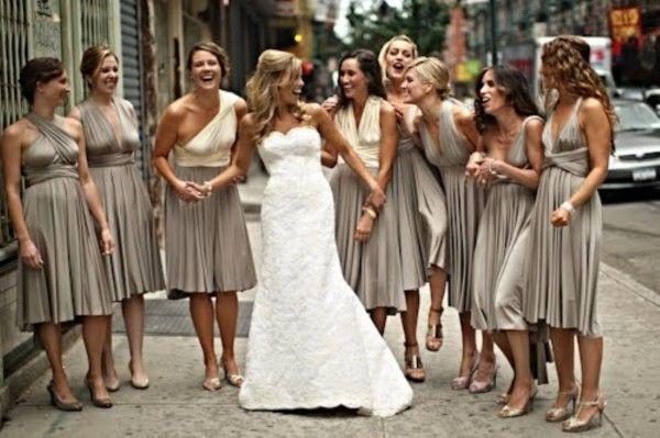 Southern California Malibu Wedding Sage Tulle Ballgowns Twobirds Bridesmaids Convertible Multiway Wrap Dress Ties Pinterest