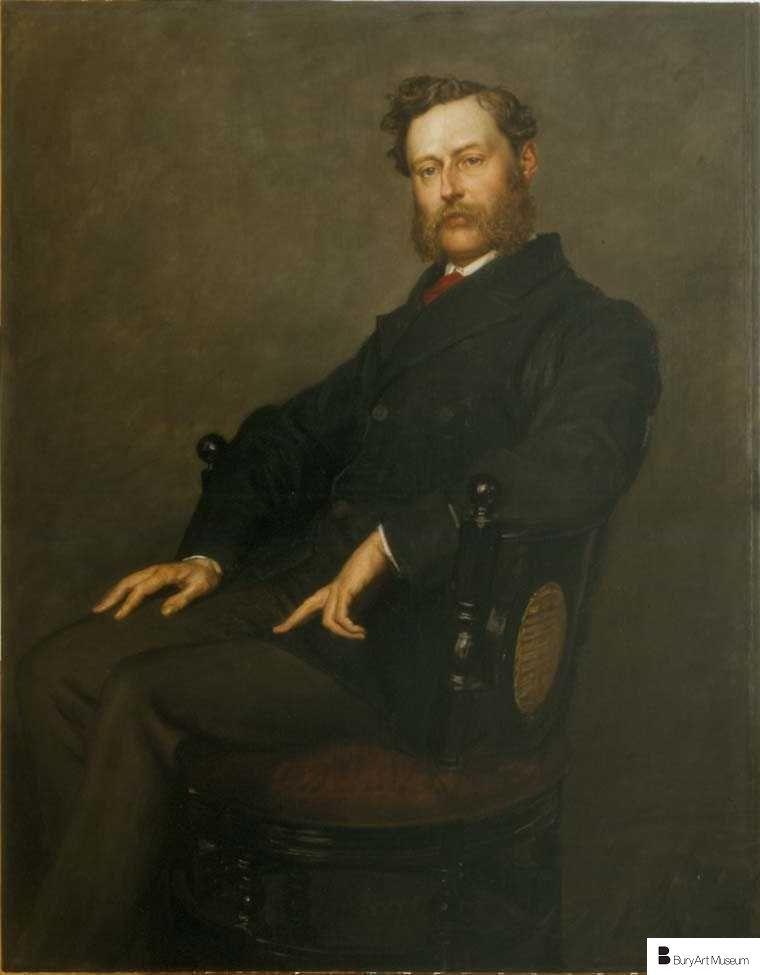 Portrait Of Colonel Oliver Ormerod Walker, Valentine Cameron Prinsep, 1860