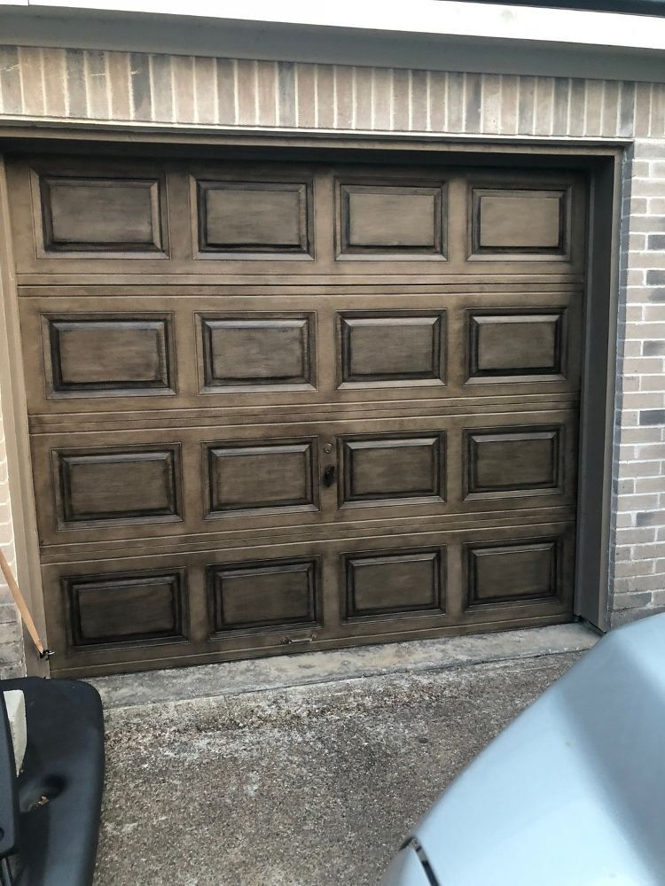Create A Faux Wood Garage Door Diy Faux Wood Garage Door Diy Garage Doors Faux Wood Garage Door