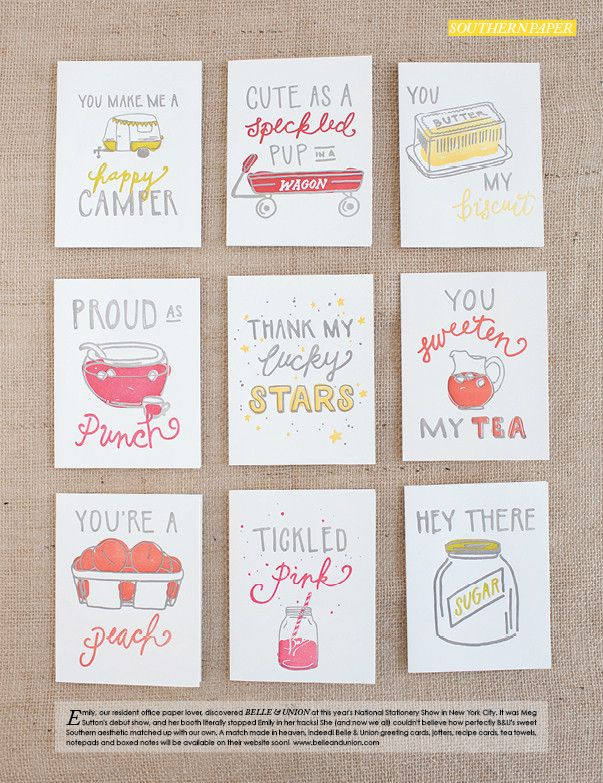 seriously adorable letterpress cards $6