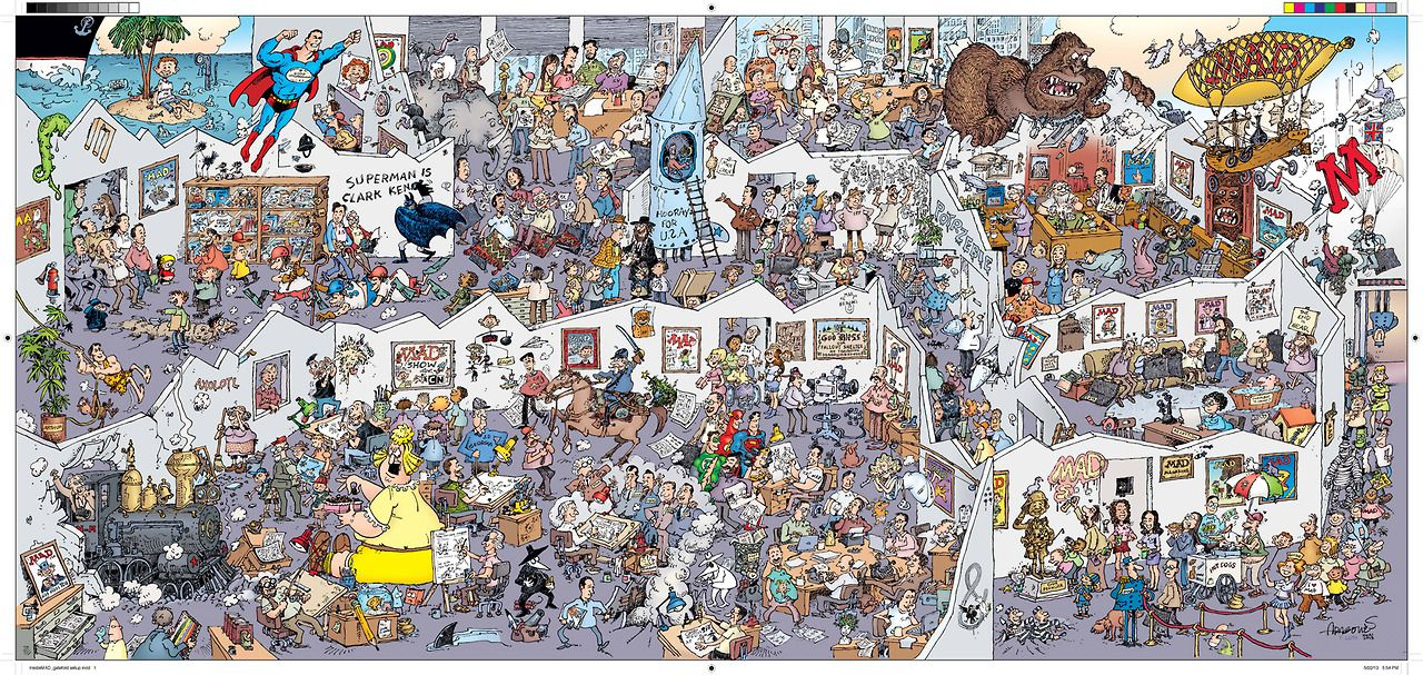 sergio aragones | Sergio Aragones' illustrated tour of the history of Mad , from the ...