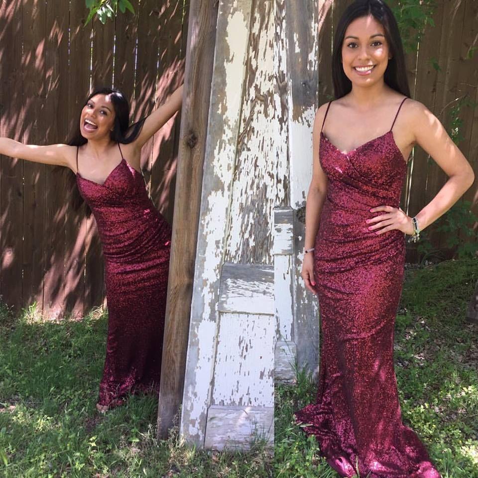 Sorella Vita crimson red sequin bridesmaid dress | Sorella Vita ...