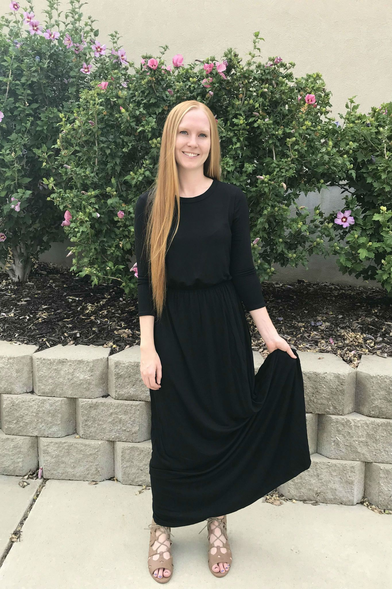 33fb8eb1eb50 Basic maxi dress for the win! Shop our Marisol Maxi Dress today! #maxidress  #dresses #black #modestclothing #cleomadison
