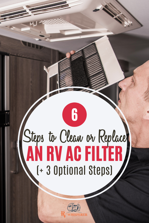 How To Clean Or Replace RV Air Conditioner Filter In 6