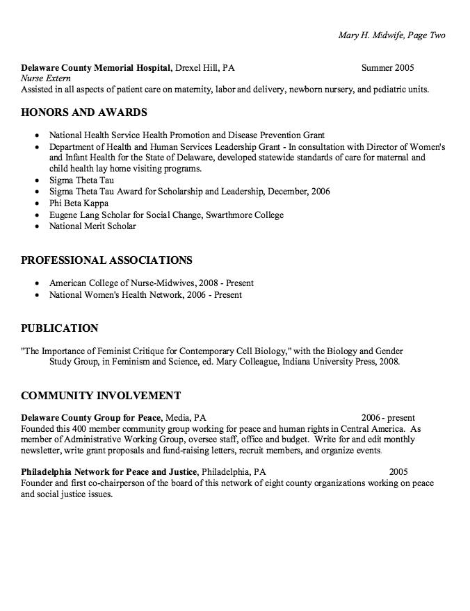 Staff Nurse Gynecology Resume