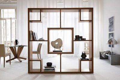 bookshelf wall dividers   Design 101: Unique Room Dividers!