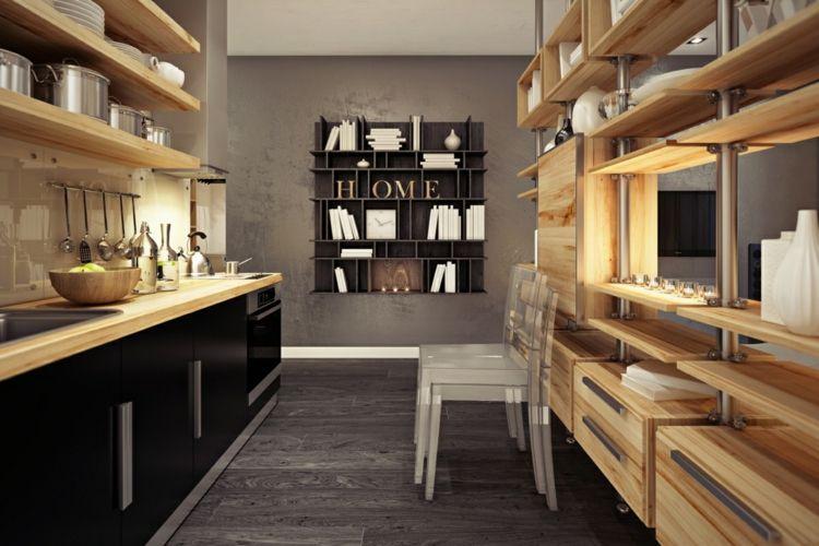 welche farbe f r k che 85 ideen f r fronten und wandfarbe kleine wohnung design. Black Bedroom Furniture Sets. Home Design Ideas