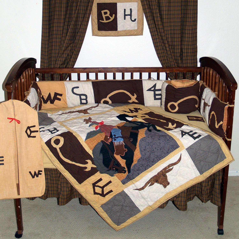 Western Baby Decor Western baby bedding, Boys crib