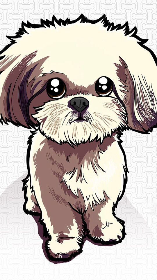My Dog Lucy In Cartoon Shih Tzus Pinterest Chang E 3 540x960
