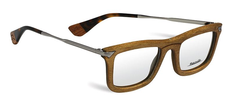 TIZIANO: Modelo 100% original italiano confeccionado en madera italiana original con patillas en stainless steel. Unica y Elegante! Disponible en negro, marron y blanco