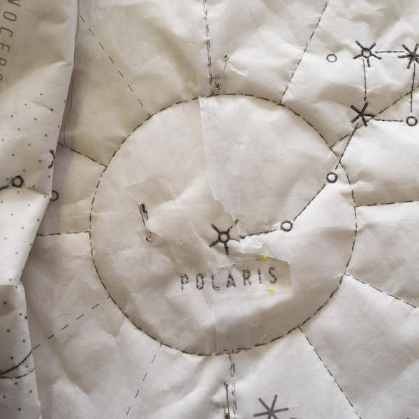 """Sew your own massive72"""" x 72"""" map of the stars. This bed-sized quilt project makes a thoughtful gift or keepsake; personalize your map with embroidered details"""