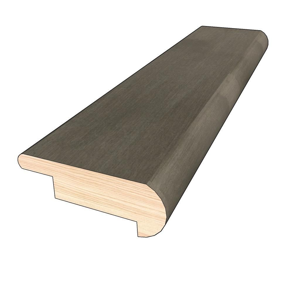 Optiwood Winter Stone 3 4 In Thick X 2 In Width X 78 In Length Hardwood Overlap Stair Nose Molding In 2020 Stair Nosing Hardwood Stairs Hardwood