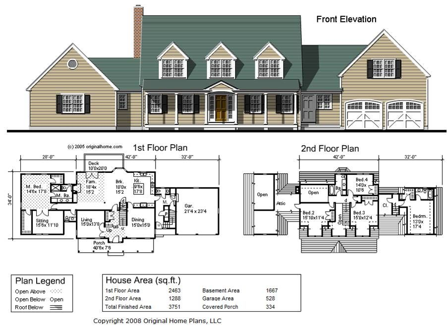 3700 square foot cape cod ranch home ground floor master for Cape cod house plans with first floor master bedroom