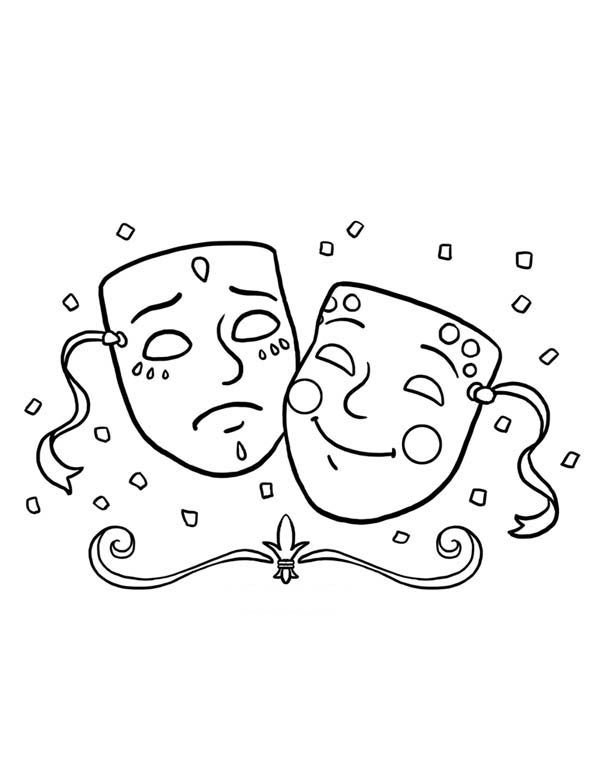 Mardi Gras A Typical Symbol Of Mardi Gras Fest Coloring Page