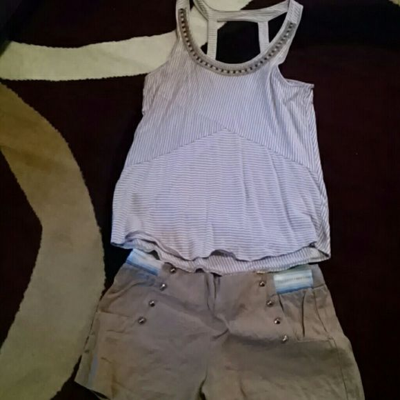 Shirt and shorts set Worn once Margo and Sebastian Shorts Cargos
