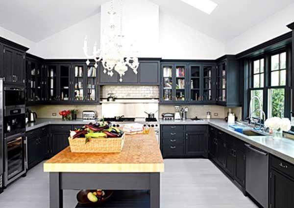 Stunning Decorating Kitchen Ideas With Black Appliances  Home Beauteous Dark Kitchen Designs Decorating Design