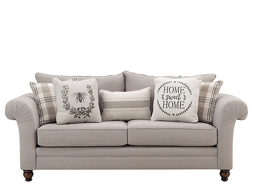 For A Charismatic Set That Also Features Traditional Touches Consider The Hemingway Sofa What We Love Most About Th Farmhouse Sofa Sofa Family Room Furniture