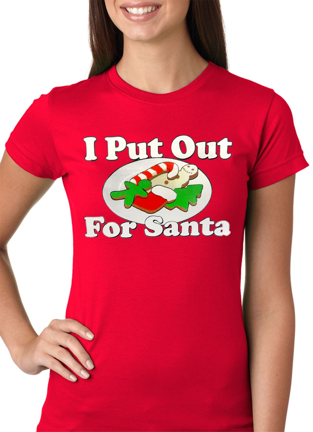 bef626df I Put Out For Santa Funny Girls T-shirt | Wardrobe and all that Jazz ...