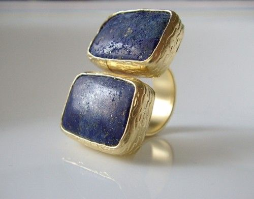 Now this makes a statement http   www.wanelo.com  women Lapis+Lazuli+Stone+Dual+GOLD+RING+ 9d0c67a38b0c