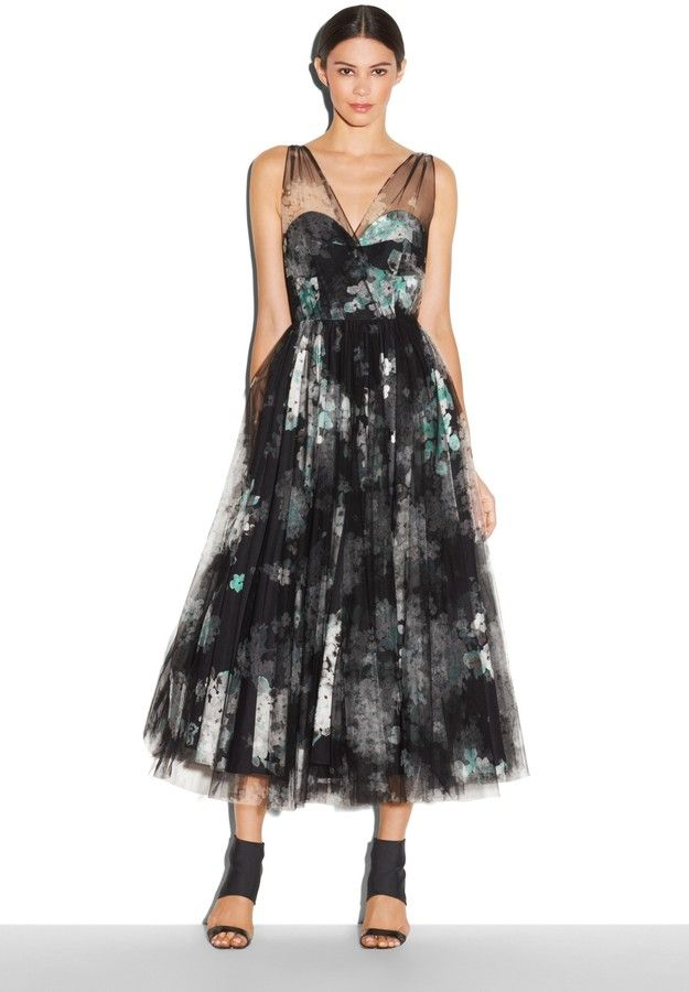 99f8795e92 Milly Grace Gathered Tulle Dress on shopstyle.com Clothing For Tall Women