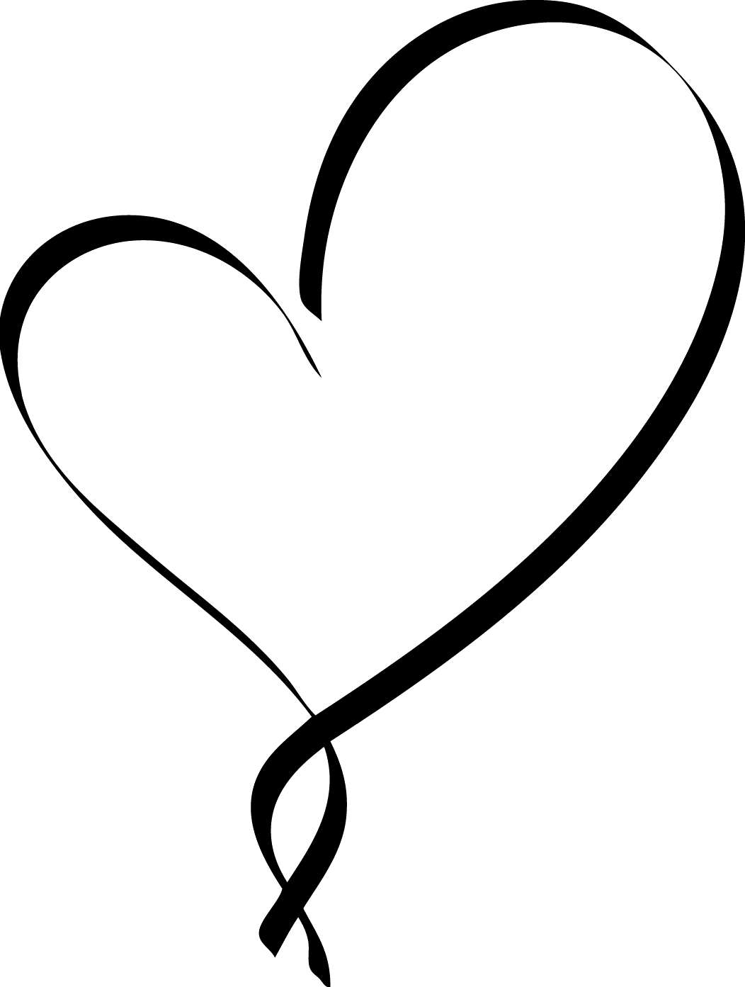 View Full Size Heart Clipart Script Fancy Black Heart Png Download And Download Transparent Clipart For Fre Clip Art Tattoo Lettering Fonts Colorful Heart