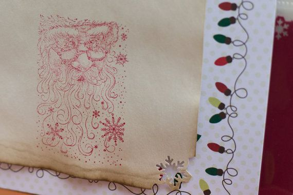 """Repurposed book, """"Miracle on 34th Street"""", keeping original artwork from the story. December Daily Journal Your Christmas by Scrapsintotreasures"""
