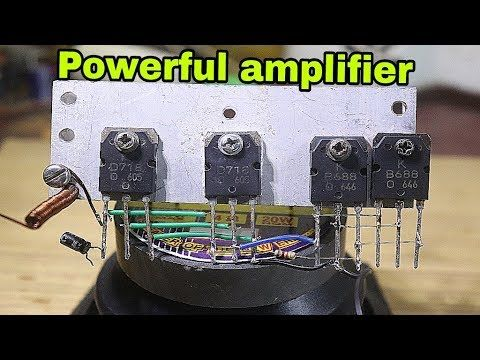 Extreme powerful bass amplifier Circuit With Quad D718 and ...