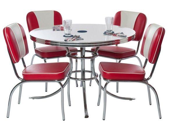 Chubbie Checker 1950 S Round Retro Table And Chairs Retro Kitchen Tables Retro Dining Rooms Retro Kitchen