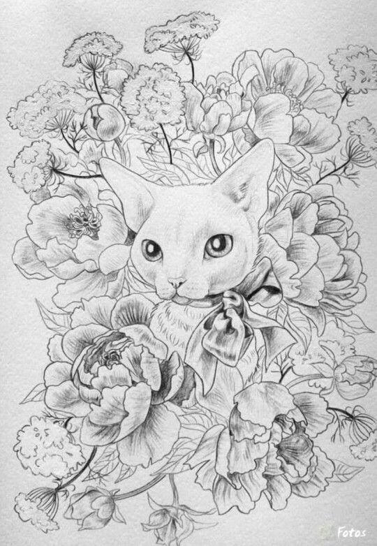 Pin de Wanda Twellman en Just cats coloring 2 | Pinterest