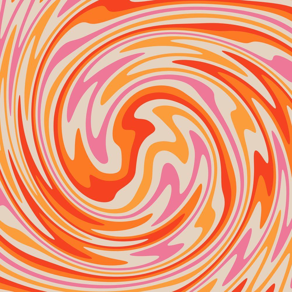 70s Retro Swirl Color Abstract Art Print By Trajeado14 X Small Hippie Wallpaper Retro Prints Art Collage Wall