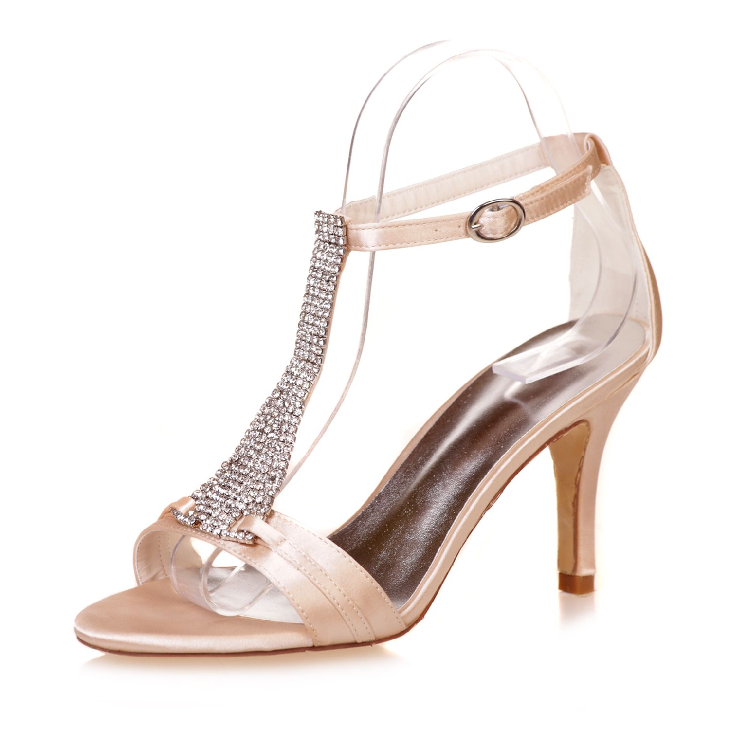 8.5cm 3inches heel satin evening dress shoes  bb832afc1518