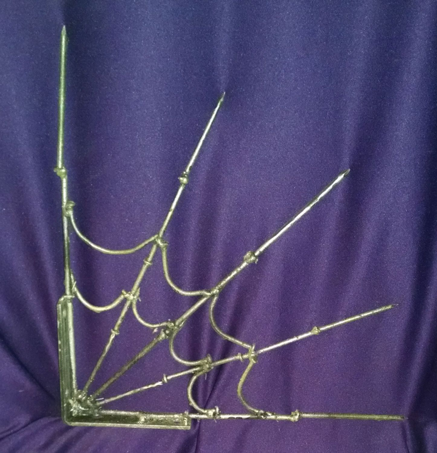 Spider Web, made from nails, Web Halloween Decoration ...