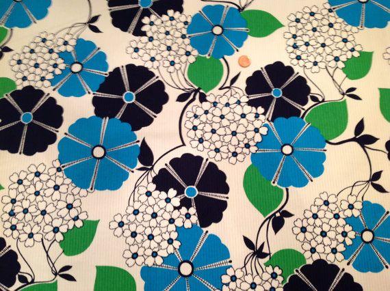 1960s Fabric Ribbed Heavy Blue Navy White door