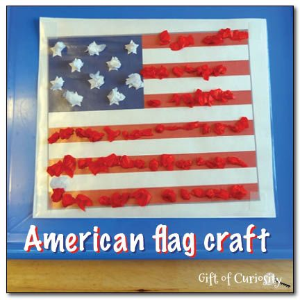 American Flag Craft Using Sticky Paper American Flag Crafts Flag Crafts Crafts