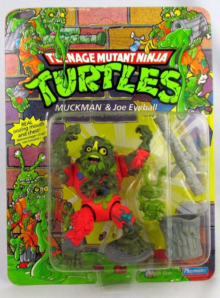 Muckman 1990 TMNT Teenage Mutant Ninja Turtles Action Figure Playmate Toys